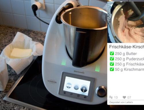 Frischkäse-Kirschen-Topping