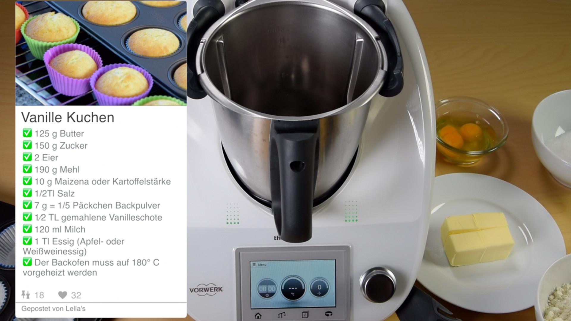 Vanille Kuchen Thermomix Lella S Cupcakes